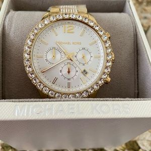 Gold and White MK watch. New in box. $325.00